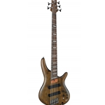 Ibanez SRFF805 Fan Fret Electric Bass, 5-String, Black