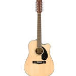 FenderCD-60SCE Dread 12-str, Nat WN Acoustic Guitar