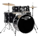 Percussion Plus  5-Piece Drum Set Black