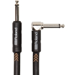 "Roland 10ft  Instrument Cable, Angled/Straight 1/4"" jack"