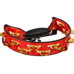 Rhythm Tech Pro Tambourine Red with Brass Jingles