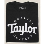 Taylor Basic Black Logo T-Shirt - Large