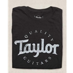 Taylor Basic Black Aged Logo T-Shirt - Large