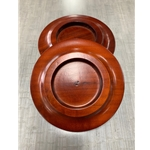 "Wood Caster 5.5"" Caster Cup Set/ Dark Mahogany High Gloss"