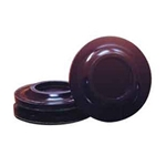 "Wood Caster 5.5"" Caster Cup Set/ Dark Walnut High Gloss"