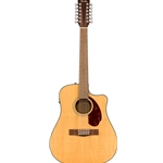 Fender CD-140SCE 12-String, Natural, Acoustic-Electric w/Case