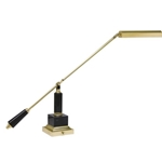 "House of Troy - PS10-190-M  Pol. Brass & Black  Marble 28"" Boom Grand Piano Lamp"