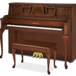 "Yamaha P660 Queen Anne 45"" Professional Gallery Collection Upwright Piano"