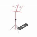 On-Stage Folding Music Stand with Bag (Pink)