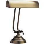 "House of Troy P10-131-71 Antique Brass 10"" Piano Lamp"