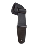 "Henry Heller 2"" Poly Strap W/Leather Ends Black"