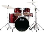 Pearl Export Series Drum Set W/Hardware Wine Red