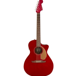 Fender Newporter Player Acoustic Electric Guitar - Candy Apple Red