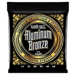 Ernie Ball 2568 Aluminum Bronze Acoustic Strings - .011-.052 Light