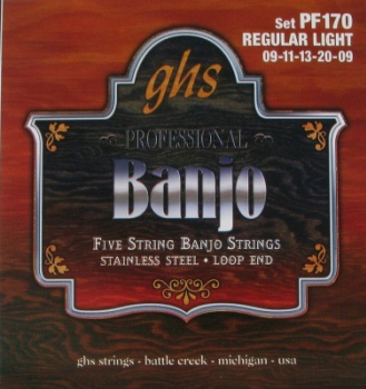 GHS 5-String Banjo Strings (Light/Stainless Steel)