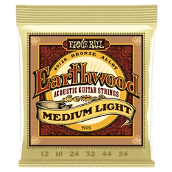Earnie Ball Earthwound Medium Light Acoustic Strings .012-.054