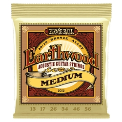 Ernie Ball Earthwood Medium Acoustic Strings .013-.056